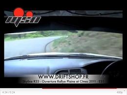 Nissan Skyline de 350 ch en ouverture de rallye : de la glisse, encore et toujours