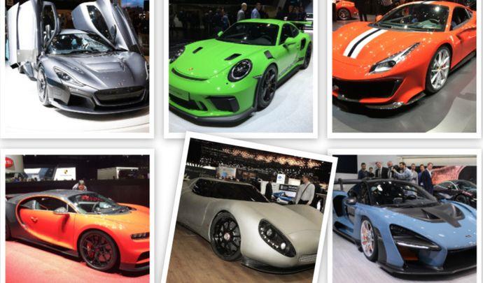 Vidéo - Ferrari 488 Pista, Bugatti Chiron Sport, Porsche 911 GT3 RS, McLaren Senna - Les supercars du salon de Genève