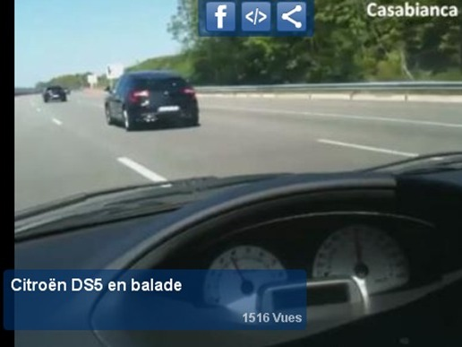 Surprise en vidéo : la Citroën DS5 se balade nue
