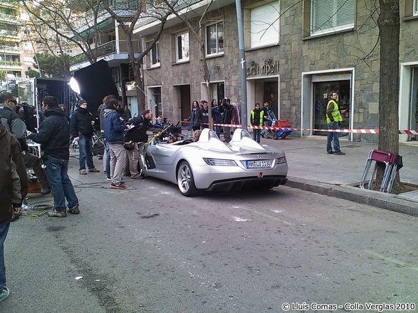 Mika Hakkinen surpris en plein tournage avec la Mercedes SLR Stirling Moss