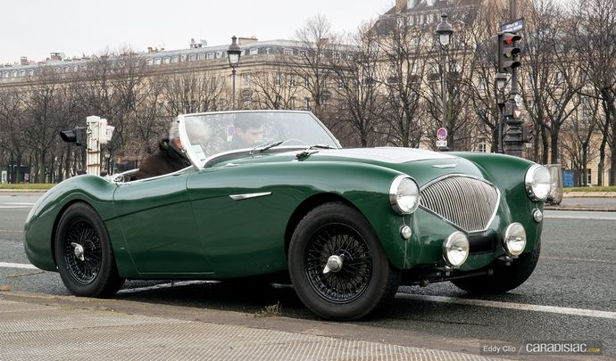 Photos du jour : Austin Healey 100 (Traversée de Paris)