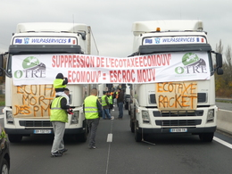 Ecotaxe : reportage au coeur du mouvement des chauffeurs routier