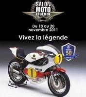 Salon Moto Légende 2011 : les Yamaha de GP s'exposent du 18 au 20 novembre au Parc Floral.