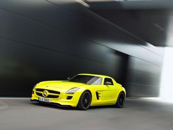 (Vidéo) Future Mercedes SLS AMG E-Cell: Un jaune électrique!