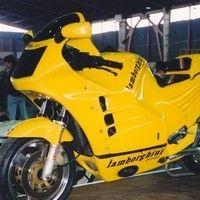 Une des rares motos Lamborghini en vente sur internet.