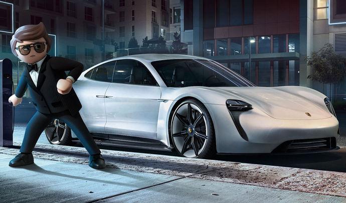 La Porsche Mission-E star du film Playmobil
