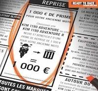KTM : 1 000 € de reprise pour l'achat d'une Adventure