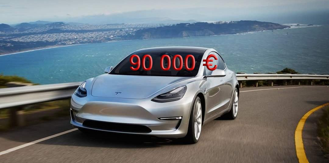 des tesla model 3 vendues au prix fort sur le march de l 39 occasion. Black Bedroom Furniture Sets. Home Design Ideas
