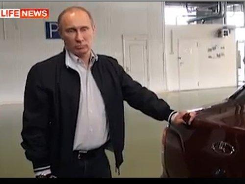 [vidéo] Poutine essaie la nouvelle Lada Granta ... qui ne démarre pas