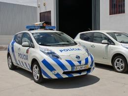 Nissan Leaf : véhicule de police au Portugal