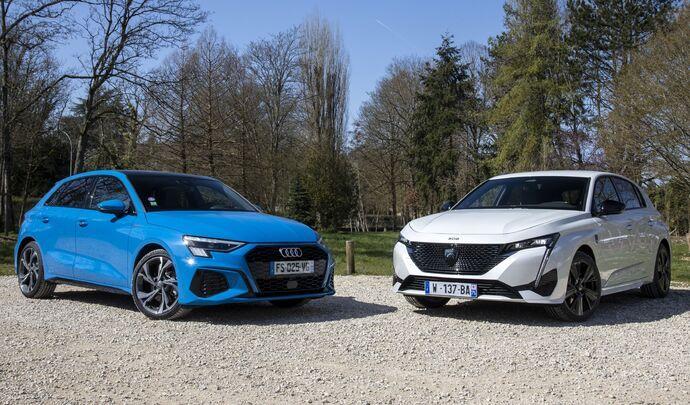 Comparatif vidéo- Nouvelle Peugeot 308 vs Audi A3 Sportback: une lionneà la hauteur du premium ?