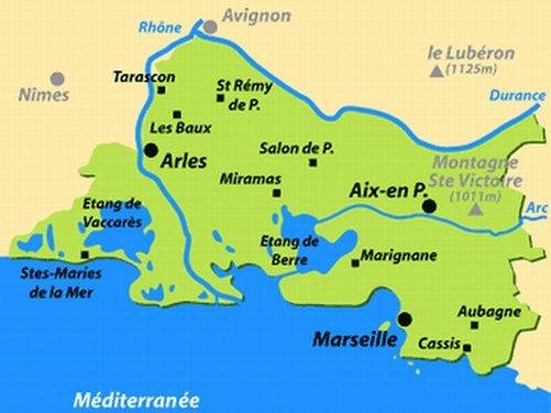Les bouches du rhone voyages cartes for Region bouche du rhone