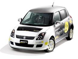 La Suzuki Swift hybride rechargeable équipée des batteries Sanyo