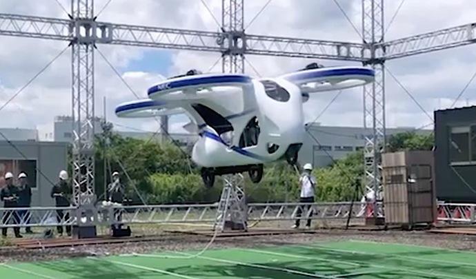 NEC montre un prototype de voiture volante