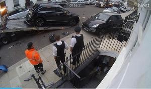 Il percute 11 voitures de luxe en un seul accident