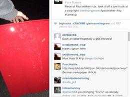 Un ado vole un morceau de la Porsche de Paul Walker... et s'en vante sur Instagram