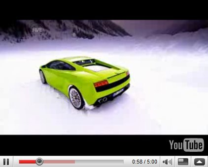 Vidéo Fifth Gear : Tiff au ski en Lamborghini LP560-4