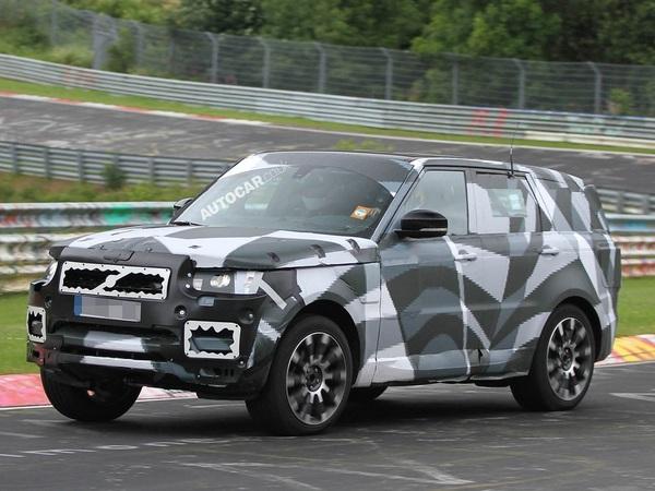 Le nouveau Range Rover Sport en test sur le Nurburgring