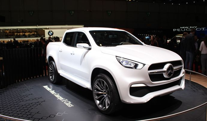 mercedes x class concept pick up de luxe vid o en. Black Bedroom Furniture Sets. Home Design Ideas
