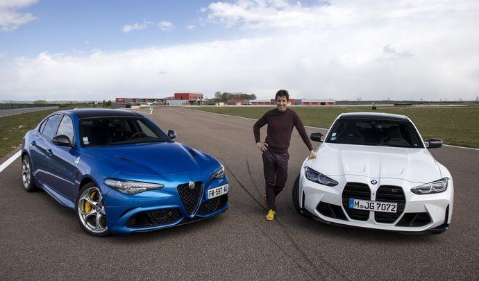Comparatif vidéo - Les essais de Soheil Ayari - Alfa Romeo Giulia Quadrifoglio VS BMW M3 : familiales débridées