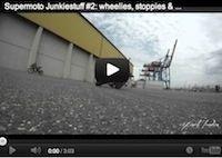 Supermotard: ça glisse, ça stunt (vidéo)