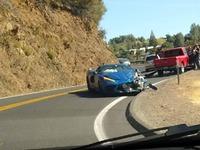 Est-ce là la première Corvette C8 crashée ?