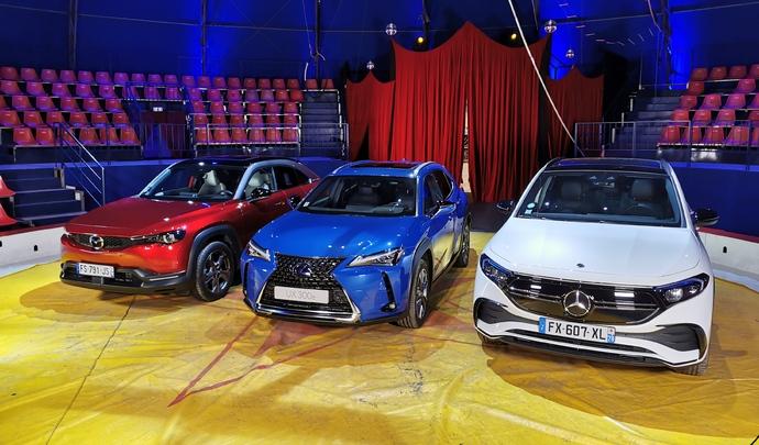 Mercedes EQA vs Lexus UX300e vs Mazda MX-30 : un fauteuil pour trois - Salon Caradisiac Electrique/hybride