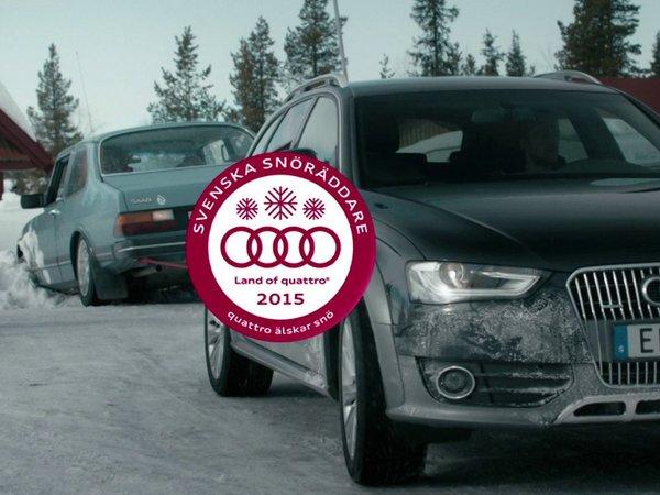 """Audi lance une application en Suède pour se faire """"secourir"""" par une Quattro"""