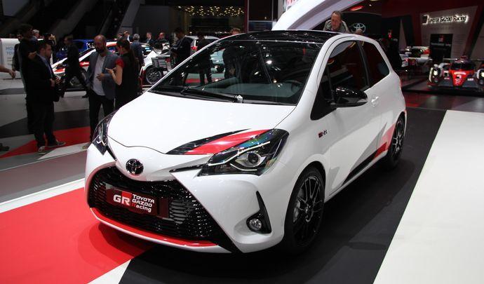 Toyota Yaris restylée GRMN : énervée - Vidéo en direct du salon de Genève 2017