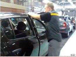 [vidéo] ajustage des ouvrants chez Dacia en Russie