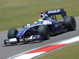Barrichello et Williams au pied du podium