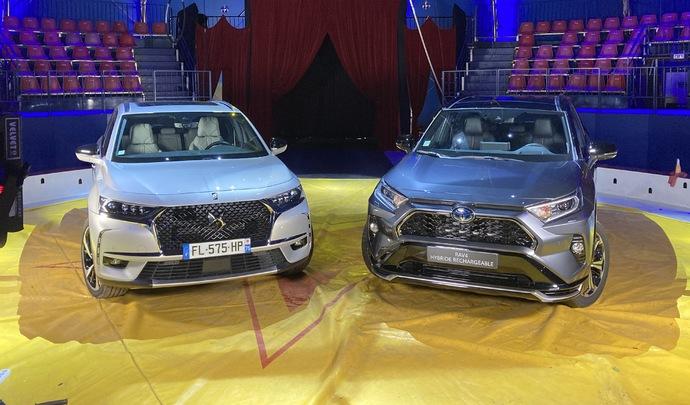DS7 Crossback E-Tense 4x4 300 vs Toyota Rav4 PHEV : luxe contre efficience - Salon Caradisiac Electrique/hybride 2021