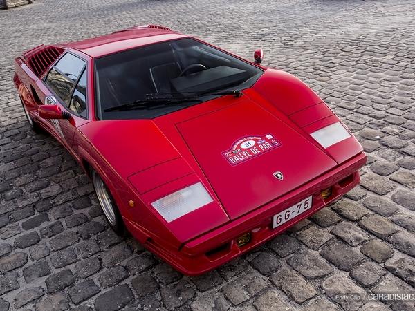 Photos du jour : Lamborghini Countach 25eme Anniversaire (Rallye de Paris)
