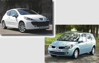 Les tubes de l'été français: Peugeot 207 et Renault Scénic