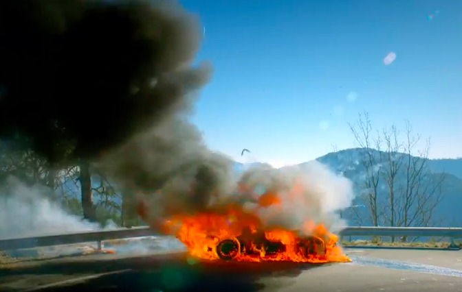 top gear les premi res images de l 39 pisode avec l 39 alpine a110 en feu. Black Bedroom Furniture Sets. Home Design Ideas