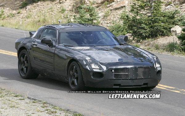 [vidéo] Future Mercedes AMG Gullwing ex-SLC : toujours en test malgré la crise
