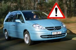 Citroën bat le rappel pour son monospace C8 : 2 soucis à éliminer.