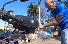 La moto roulant à l'hydrogène existe au Brésil
