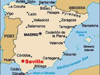 Infos sur : seville carte espagne   Arts et Voyages