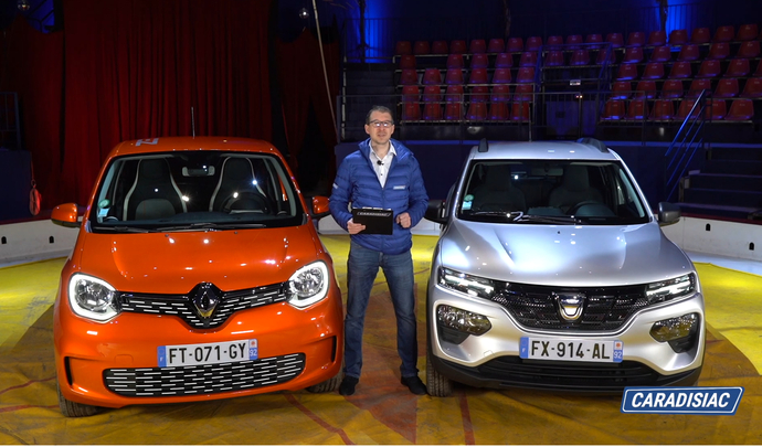 Dacia Spring VS Renault Twingo : duel fratricide - Salon Caradisiac Electrique/hybride 2021
