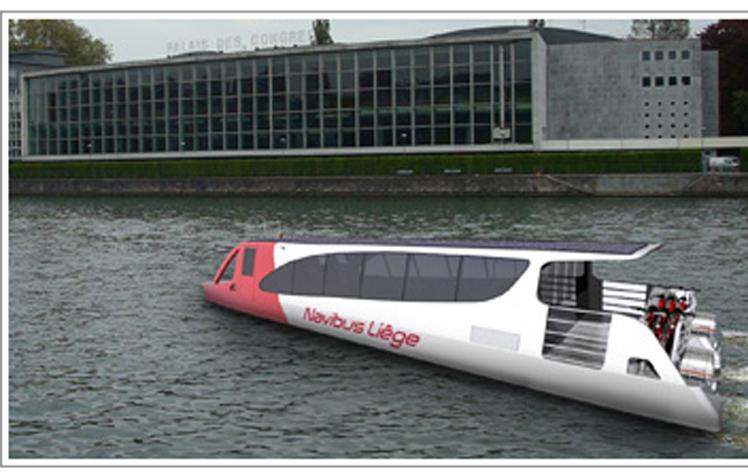 bateau bus en belgique le projet navibus sur la meuse li geoise. Black Bedroom Furniture Sets. Home Design Ideas