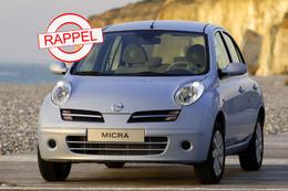 La Nissan Micra au rappel : l'airbag conducteur peut ne pas se déployer.
