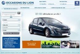 """Peugeot dépoussière son site """"occasionsdulion.com"""""""