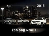 Nissan a livré 200.000 Qashqai en France