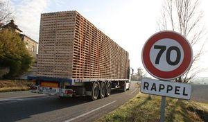 Un groupe de recherche préconise les 70km/h sur route