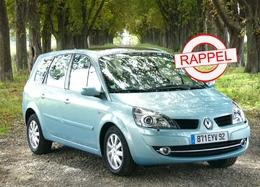 Renault rappelle ses Scénic et Kangoo à tour de bras.