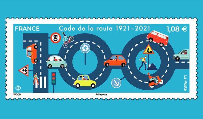 La Poste lance un timbre pour célébrer le centenaire du Code de la route