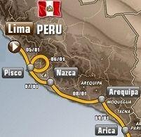 Dakar 2013 : Le parcours de Lima à Santiago
