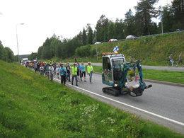 Du nord au sud de la Finlande en pelleteuse