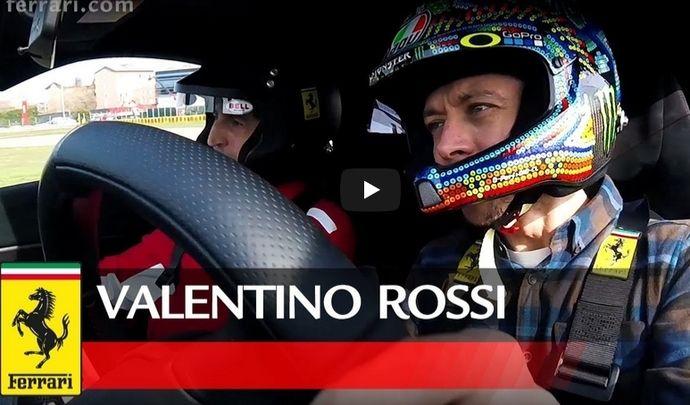 Insolite : Valentino Rossi en Ferrari 488 Pista